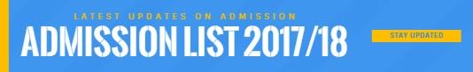Admission List 2017/2018
