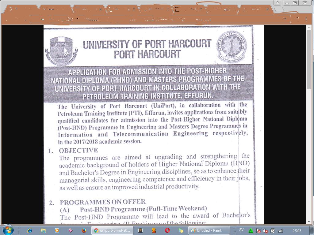 Uniport phnd in engineering