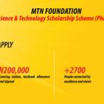 N200,000 MTN Foundation Scholarship Scheme For Nigerians