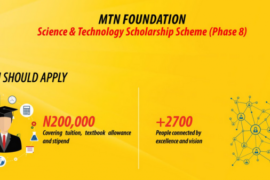 mtn foundation scholarship 2017 and 2018