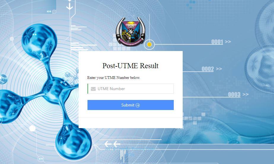 futa post utme result 2017