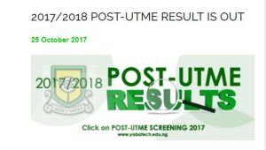 yabatech post utme result 2017