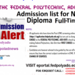 Fed Poly Ado-Ekiti ND Full-Time Admission List