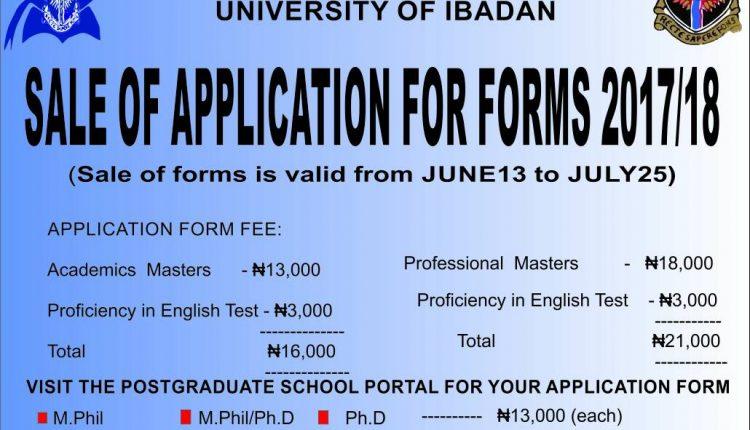 University of Ibadan Post Graduates Form 2018